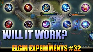 ODD ITEM AND SKILL COMBINATIONS - ELGIN EXPERIMENTS #32 WILL IT WORK ON A REAL GAME?