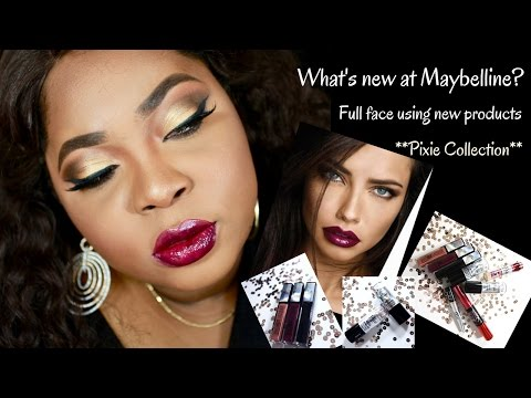 What's new with Maybelline? 2017| Pixie Collection| Gold smokey eyes & Sultry Red Lips| #pixiesquad