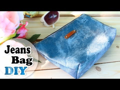 DIY JEANS BAG IDEA ~ Zipper Bag ~ Jeans Recycle Tutorial