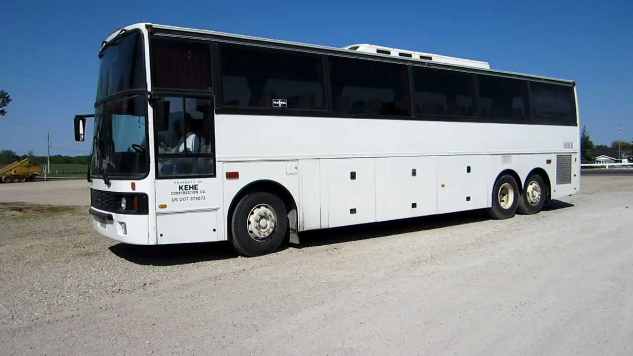 9 Passenger Van >> 1988 Van Hool T815 49 Passenger Touring Bus.MOV - YouTube