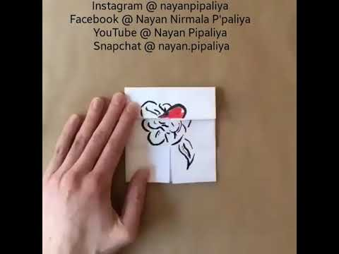 Simple and Easy world's best DIY love greeting card - Valentine's greeting card - love greeting card
