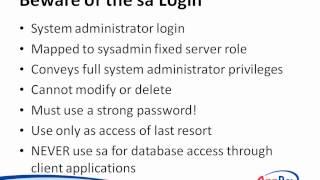 SQL Server 2012: Security Basics Tutorial