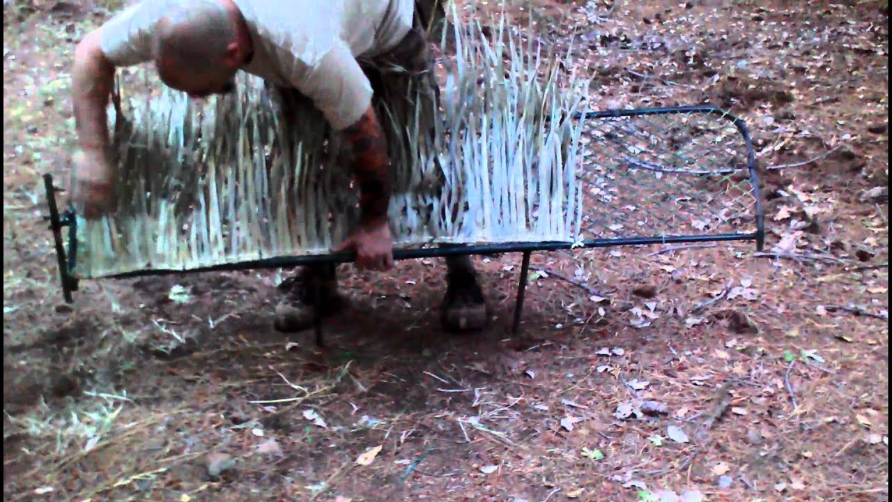 Duck Blind Cover Installation Metal Frame W Hinge Youtube