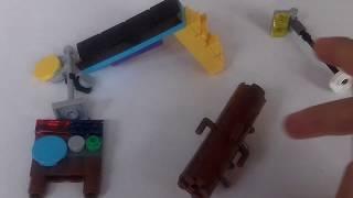 kleine Laterne, Rutsche und Sägebock aus Lego bauen