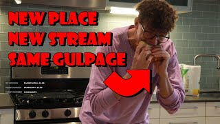 Steve's FIRST Stream at his New Place (Chip Butty Mukbang)