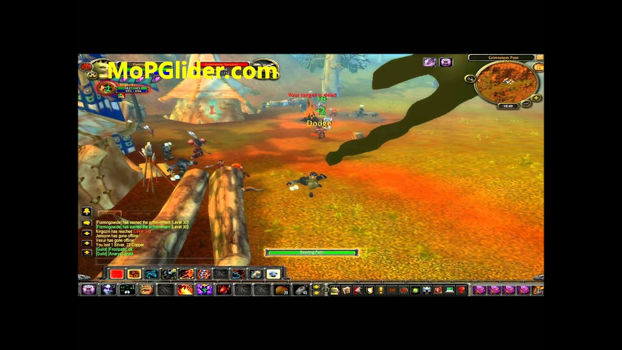 Mopglider com, Hands free Wow Bot 1-85