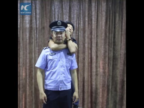 Eye-opening! Chinese Police Show How To Get Free From Choke Hold