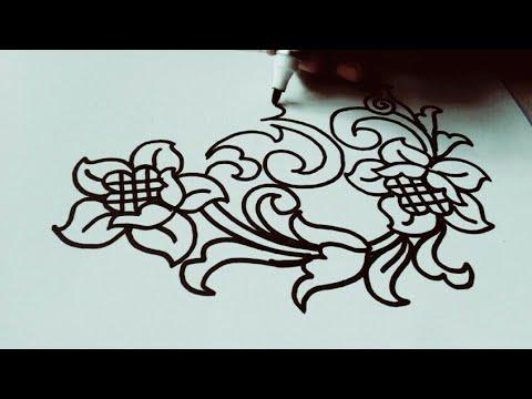 Belajar Menggambar Batik Ukir Untuk Pemula Pelan Pelan