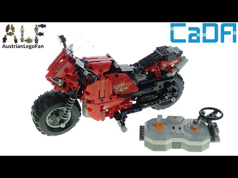 CaDa Bricks C51024 Race Track Motorcycle - Speed Build Review Of A LEGO Technic Alternative