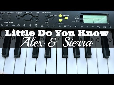 Little Do You Know – Alex & Sierra | Easy Keyboard Tutorial With Notes (Right Hand)