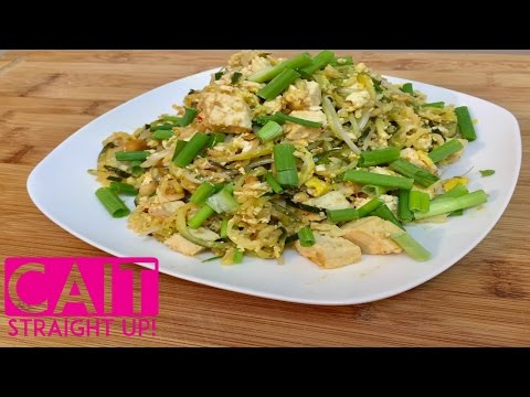 Easy Veggie Pad Thai Recipe | Homemade Zoodles Pad Thai | Cait Straight Up