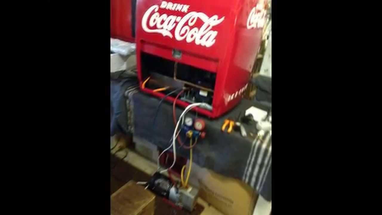 coca cola vintage fridge restoration by returnofthered youtube