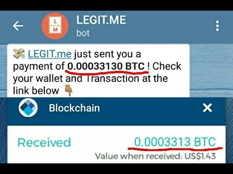 legit telegram bitcoin bot without investment)