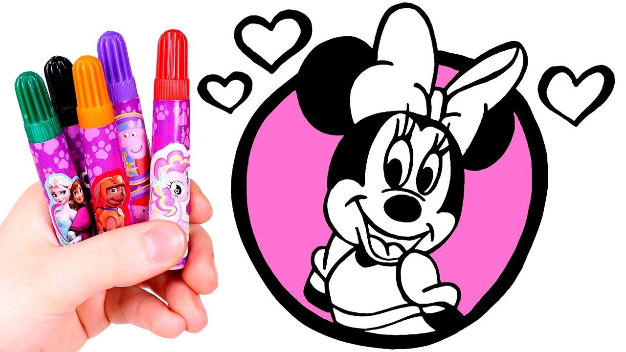 Dibuja Y Colorea A Minnie Mouse Dibujos Para Ninos Youtube