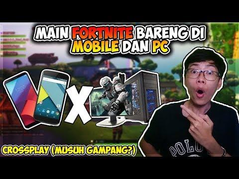 Main Fortnite Bareng Subscribers Yang Pake Mobile Dan PC Crossplay GG Buildingnya Fast Hand!!!