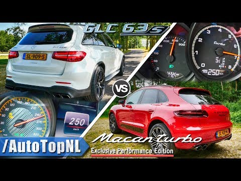 Porsche Macan Turbo vs GLC 63 S AMG | 0-250km/h ACCELERATION & TOP SPEED Exhaust SOUND by AutoTopNL
