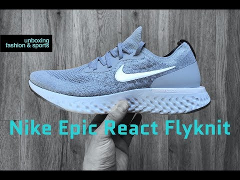 Nike Epic React Flyknit 'wolf-grey/wht grey' | UNBOXING & ON