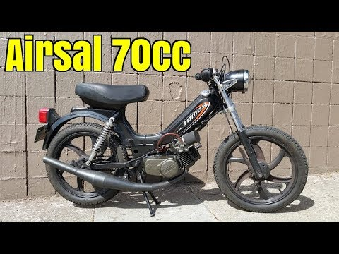 Tomos A35 Airsal 70cc first test run - (US)