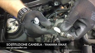 sostituzione della candela yamaha yp 250r changing the spark plug