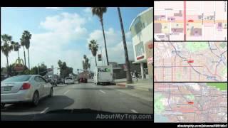 Sunset Boulevard (Los Feliz, Los Angeles, CA) to El Centro Avenue (Hollywood) via Mid Wilshire