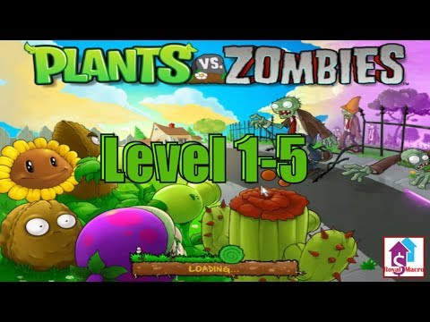 Plants Vs Zombies 2009 | Popcap Games | Level 1-5