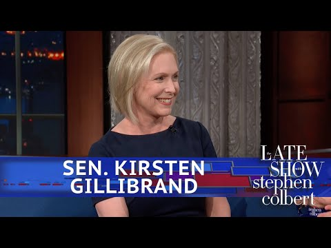 "Sen. Kirsten Gillibrand'sannouncement came during a taping of ""The Late Show with Stephen Colbert."""