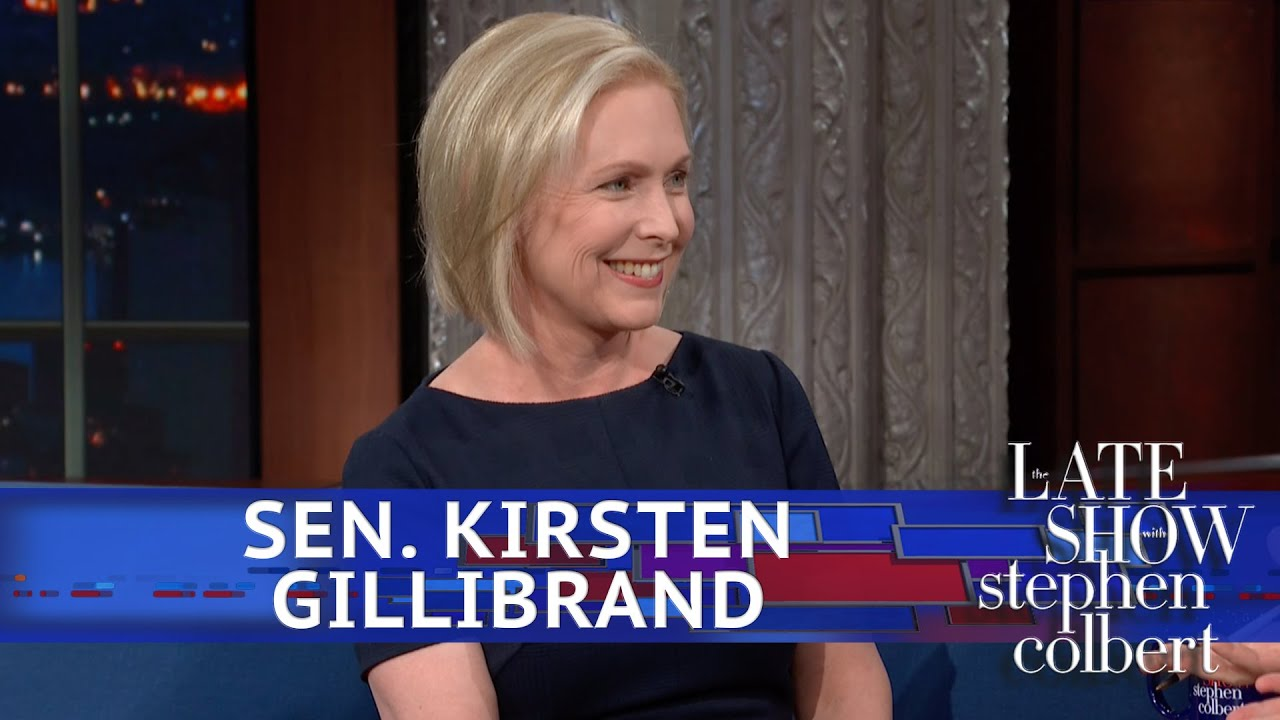 Sen. Kirsten Gillibrand tells Stephen Colbert she will run for president