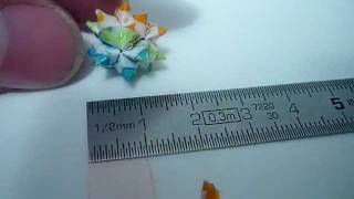 World's Smallest Bascetta Origami Star 1cm X 1cm..mov