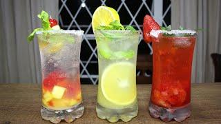 Tres bebidas refrescantes - micheladas de soda 🍸🍹🍷