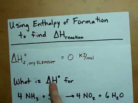 Find Delta H from Enthalpy of Formations - YouTube