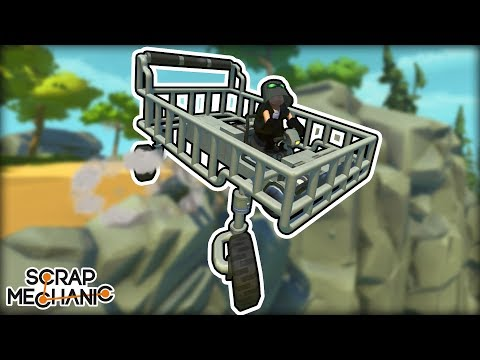 Shopping Cart Racing With Free Spinning Caster Wheels! (Scrap Mechanic Multiplayer Monday)