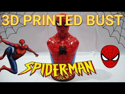 3D Printed Vintage Spider-Man Bust [Time-lapse] Myminifactory STL File |  Paint & Finish |