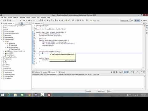 JavaFX with Scene Builder : Lecture 1: Create our Main Layout FXML and load it In our Main Class