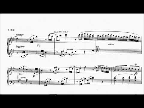 ABRSM Piano 2017-2018 Grade 8 B:7 B7 Mozart Allegro in Bb K.400 Sheet Music