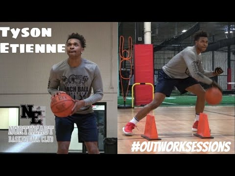 Northeast Basketball Club Outwork Session - Tyson Etienne - Jersey Guard Workout