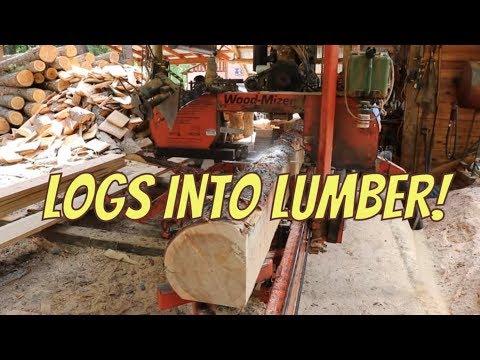 Sawing Logs Into Lumber!