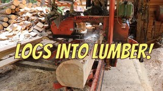 Sawing Logs Into Lumber!