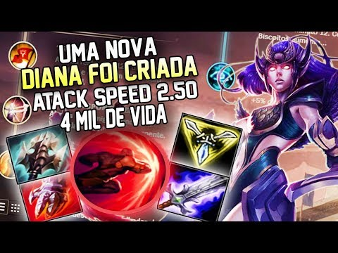 DIANA ONESHOT - MUITO DANO E MUITA VIDA - NEW BUILD LUTADORA - league of legends