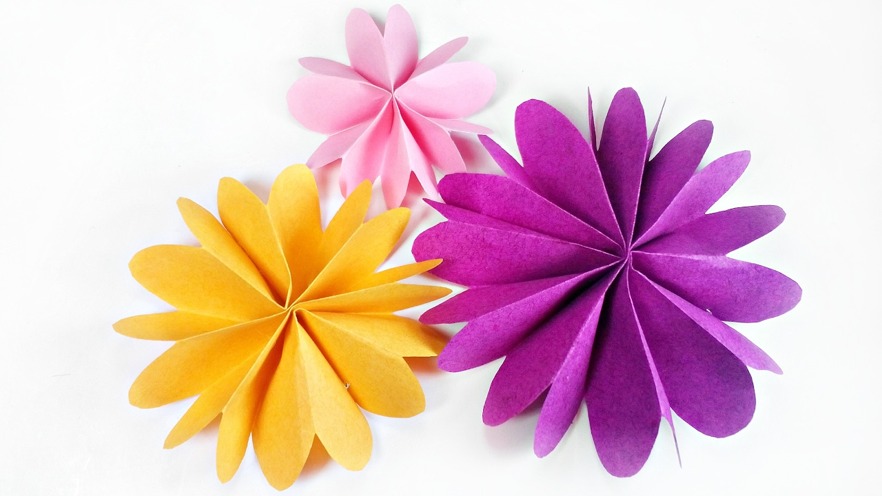 DIY Paper Flower For Wall Backdrop Decoration Arts And Crafts Flowers Easy Kids