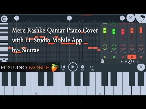 Mere Rashke Qamar Instrumental | Piano Cover | Created with FL Studio Mobile App by Sourav