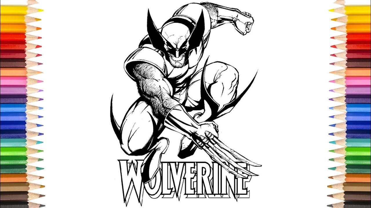 Super Hero The Wolverine Coloring Pages | Marvel Wolf The ...