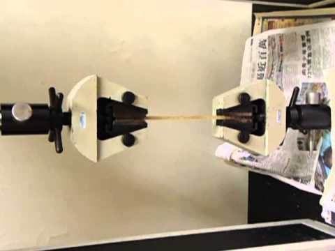 Tensile Test of Glass Fibre Reinforced Plastic Composites-Setting.AVI