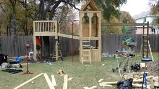 Jonrie Designs Custom Clubhouse, Treehouse & Swing Set