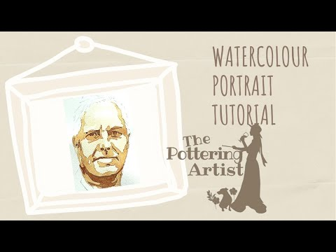 Watercolor Portrait Tutorial  REALTIME with full commentary