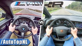 BMW M140i vs Seat Leon Cupra R | 0-250km/h ACCELERATION TOP SPEED POV & Exhaust SOUND by AutoTopNL