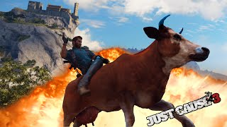 Montando En Un Toro Loco !! WTF - Random Moments Just Cause 3