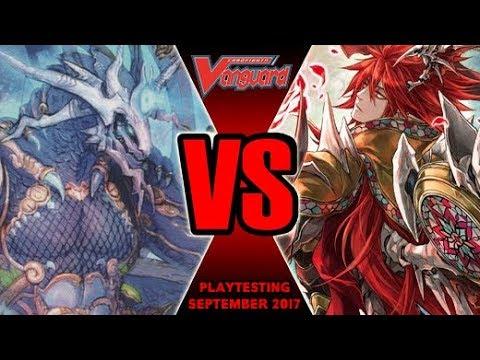 Shiranui Dominate Vs Scharhrot Darkness - Cardfight Vanguard Playtesting September 2017
