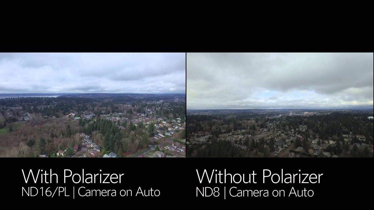 Dji Phantom 3 Polarpro Filter Polarizer Vs No Polarizer