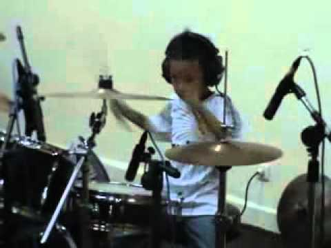 Muse - Hysteria (Drum Cover) by RAZI - 7 Years Old Drummer