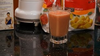 Mango, Strawberry, Peach & Milk Smoothie : Making Smoothies